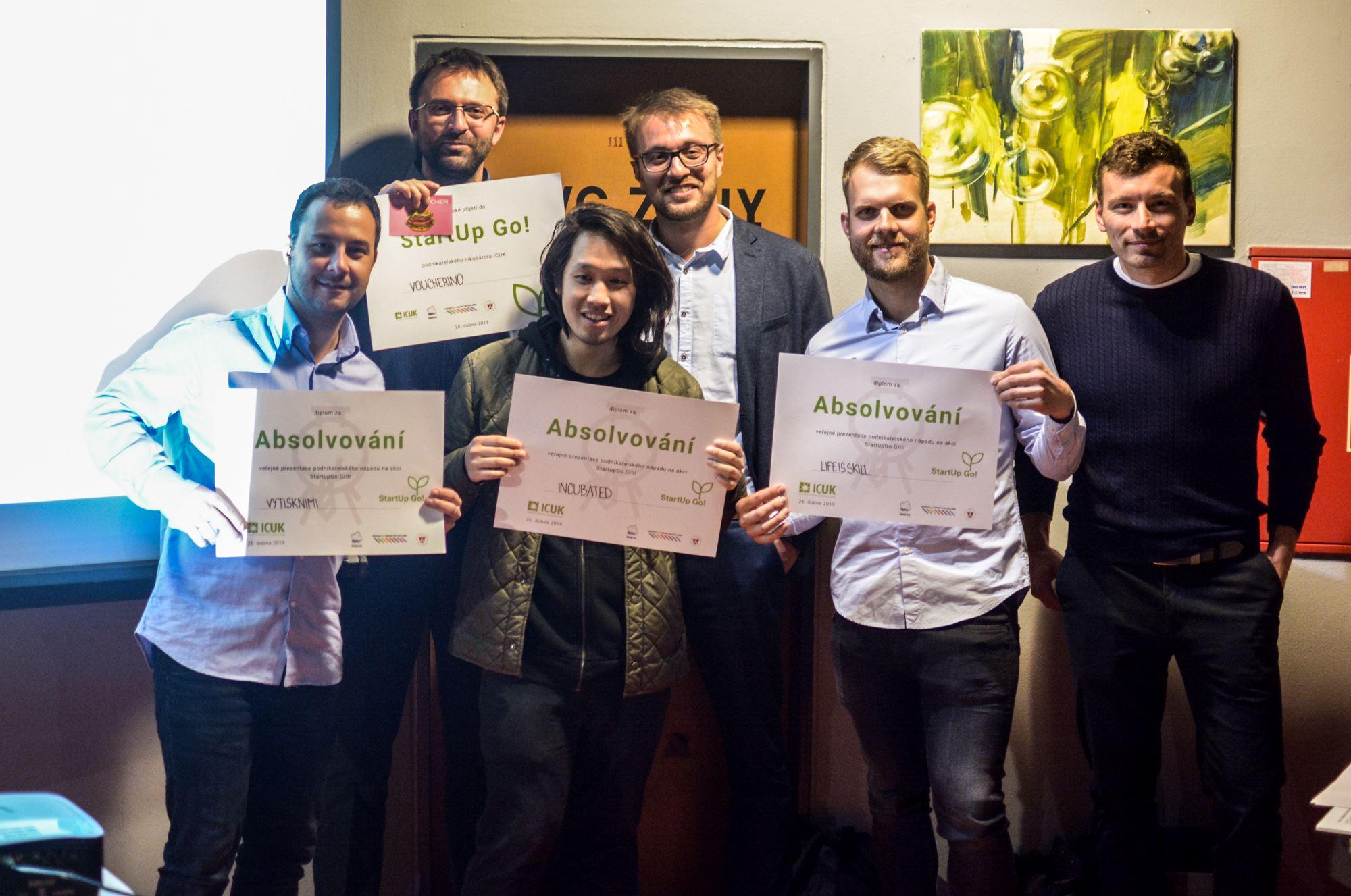 Povzbuzující výhra na Startup Go Grill