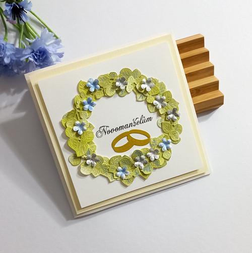 """Dárkové svatební přáníčko """"Kvítí"""" č. 2604"""