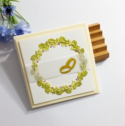 """Dárkové svatební přáníčko """"Kvítí"""" č. 2603"""